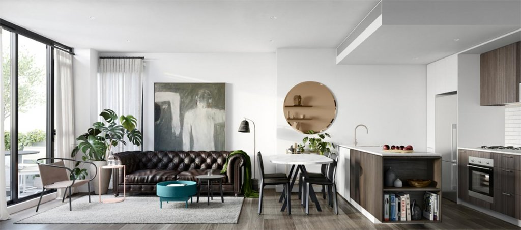 interior rendering of ebv apartment