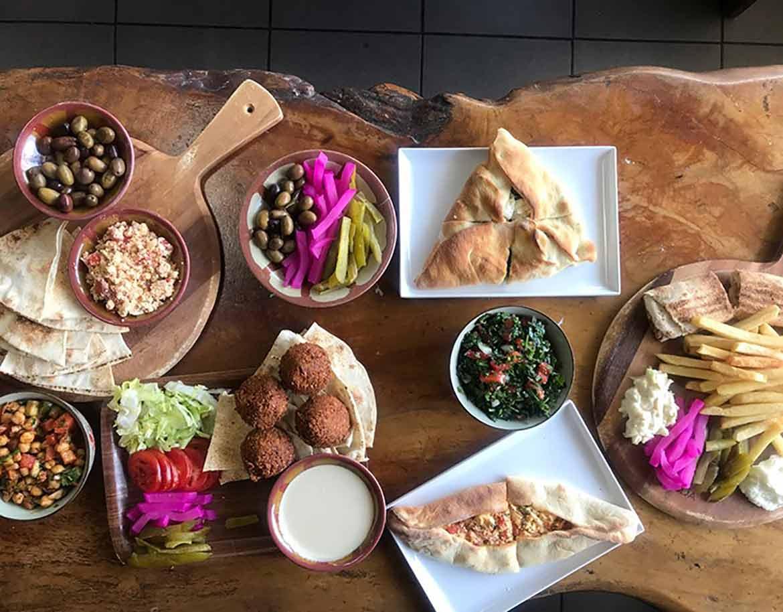 Middle Eastern food platter