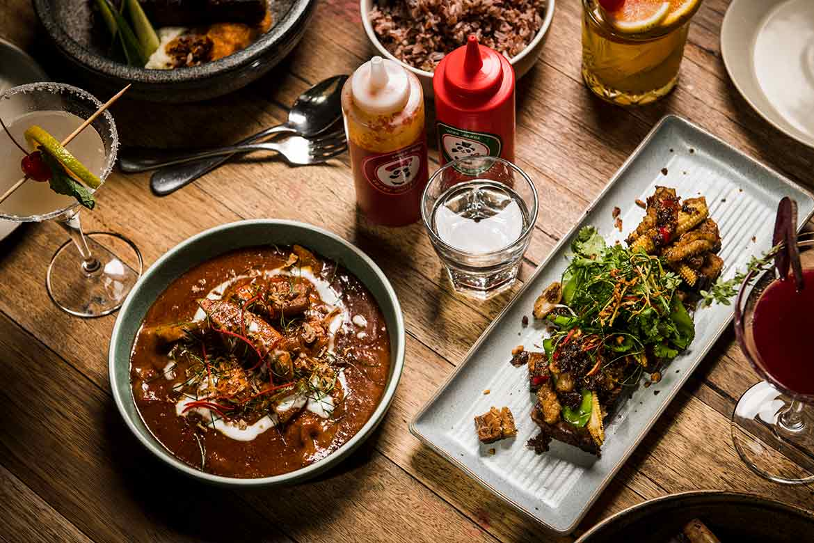 brunswick mess hall dishes on a table with drinks