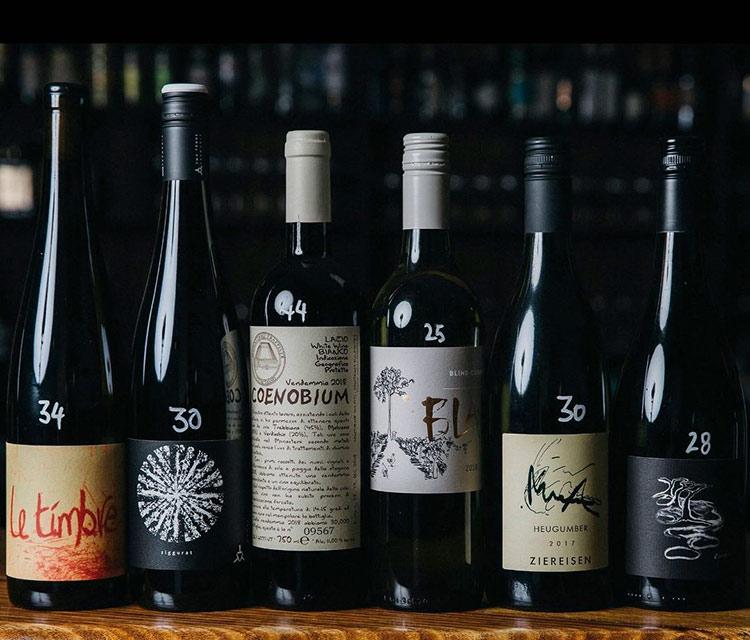 Bar romantica wine list and bar