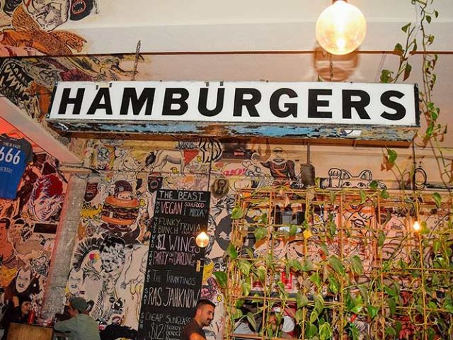 Hamburger Sign