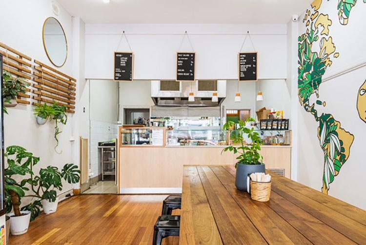 The interior of the Kevabs Restaurant on Sydney Road, Brunswick