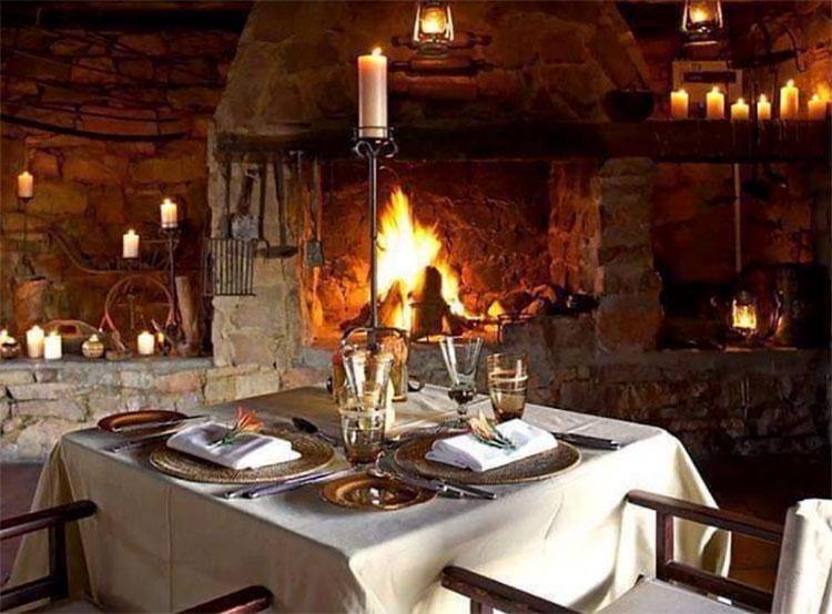 the interior of the brunswick restaurant stonemill